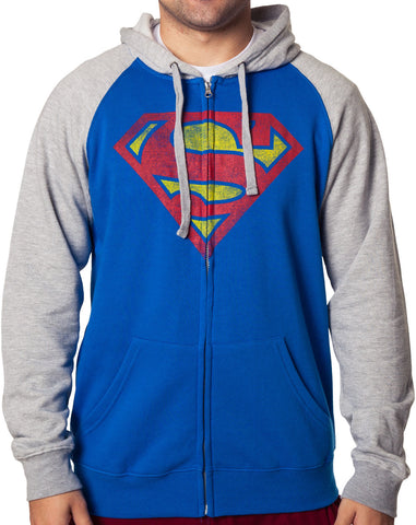 DC Comics Superman Distressed Hoodie