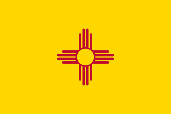 New Mexico Zia Symbol Flag