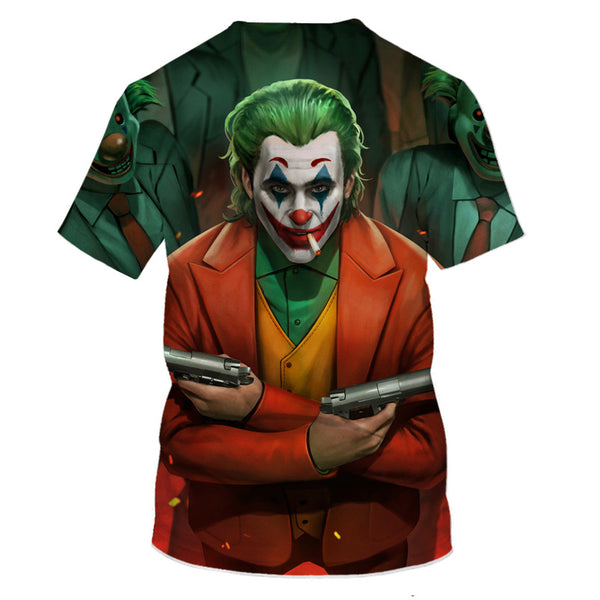 3D digital color printing men's T-shirt