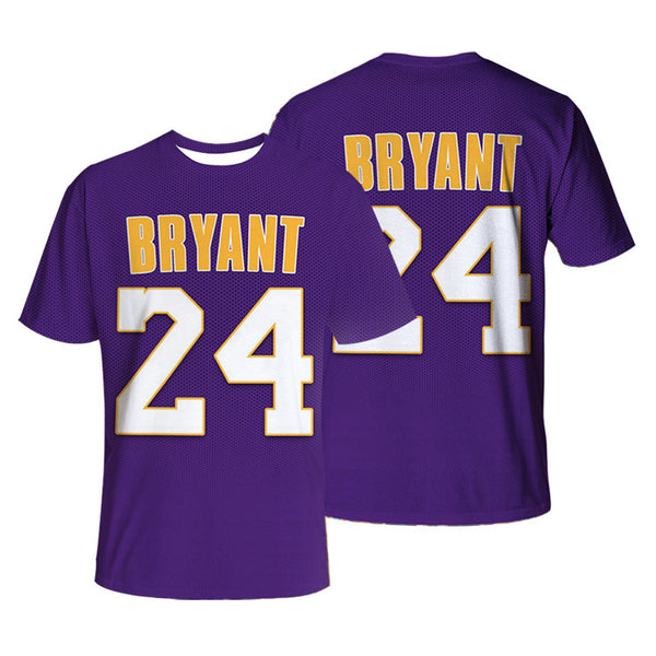 NBA Lakers Black Mamba Kobe 3D printed T-shirt