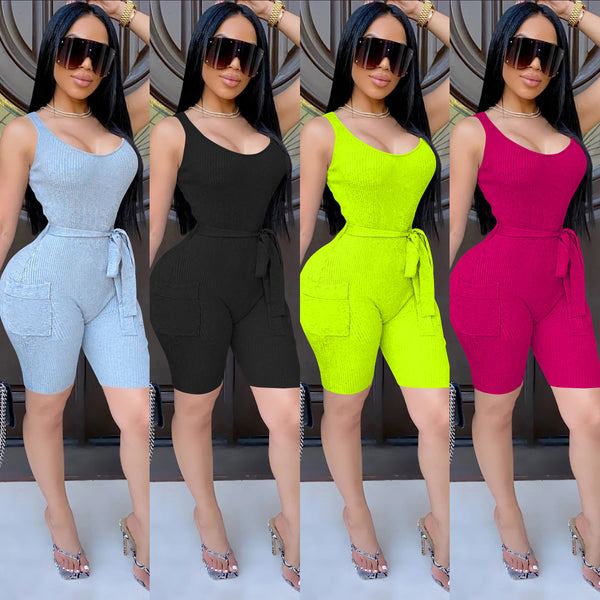 Fashion sexy knitted Jumpsuit