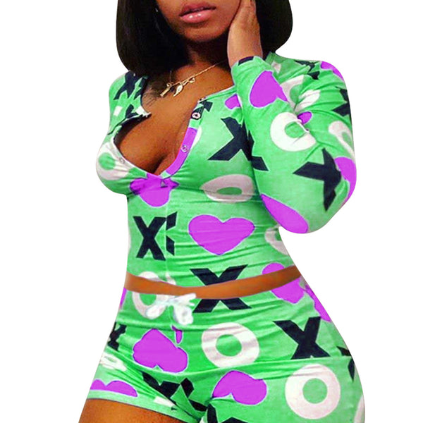 Fun printed leisure suit home suit