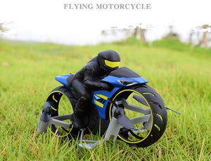 (Best Christmas Present )2 In 1 Remote Control Motorcycle Land And Air