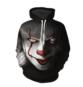 Clown back to soul 3D printing couple pullover sweater