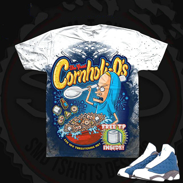Cartoon print sneaker match t-shirt