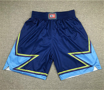 Stars print navy men's sport shorts