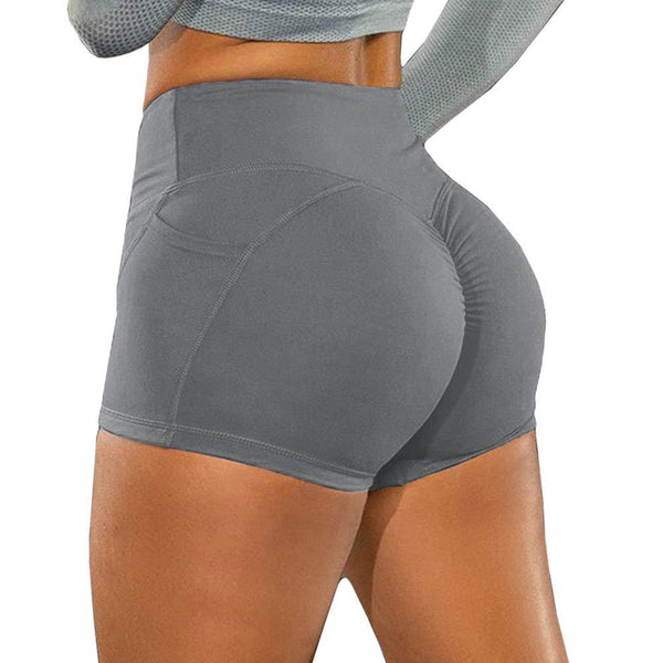 Sexy hip wrinkle yoga shorts