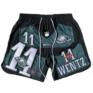 Letter print NBA basketball style sports shorts