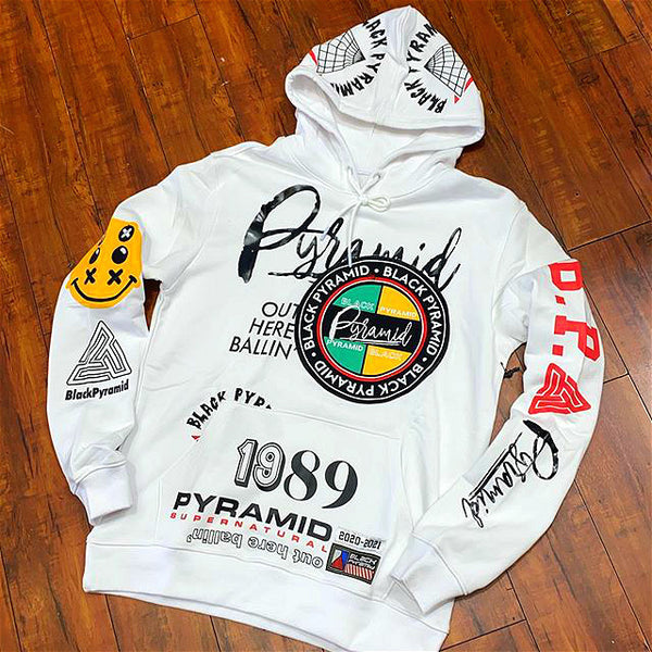 1989 letter print men's fashion hoodie