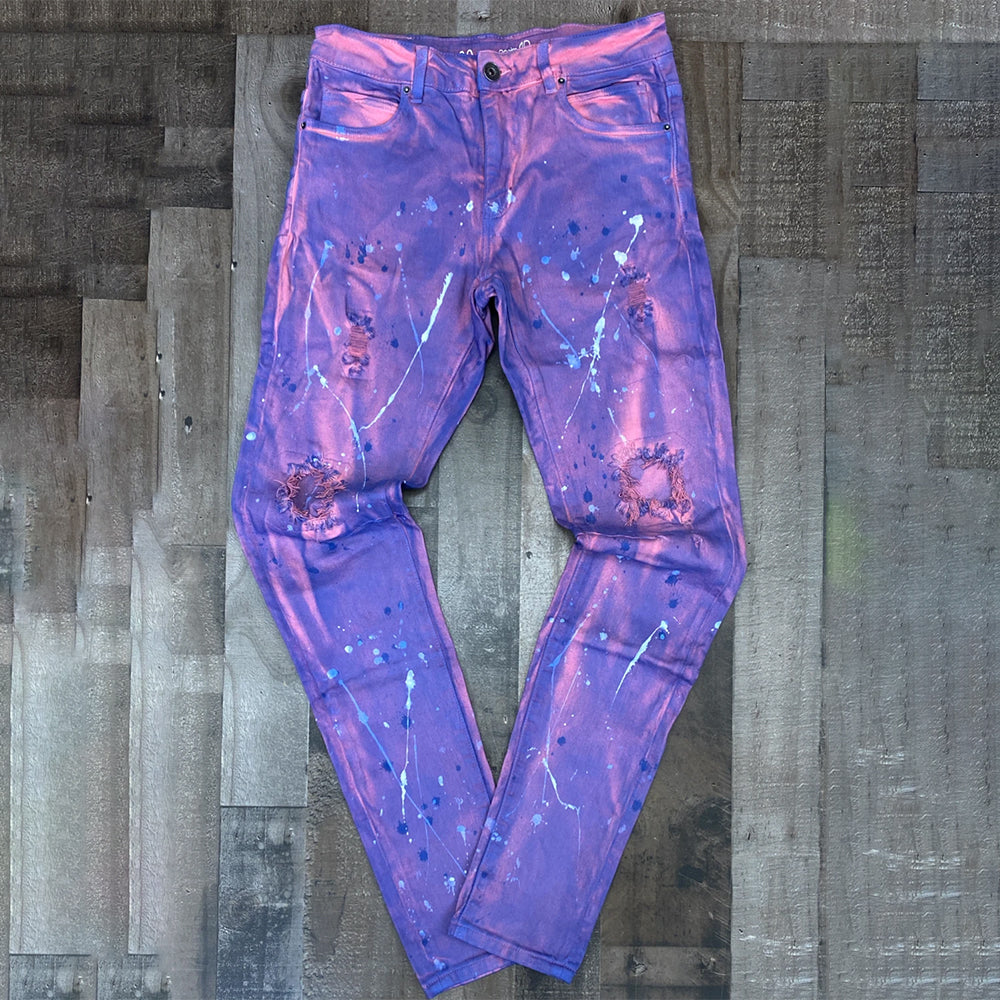 PAINTED JEANS (PURPLE)