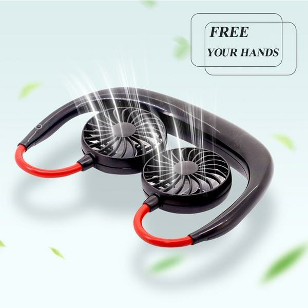 Buy 2 get 1 free-portable hanging neck fan