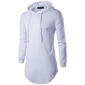 Street style hooded T-shirt long sleeve sweater