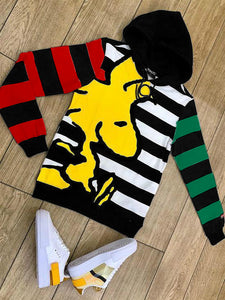 Woodstock cute print stripe design hoodie