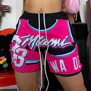 Miami vice pink unisex fashion sport shorts