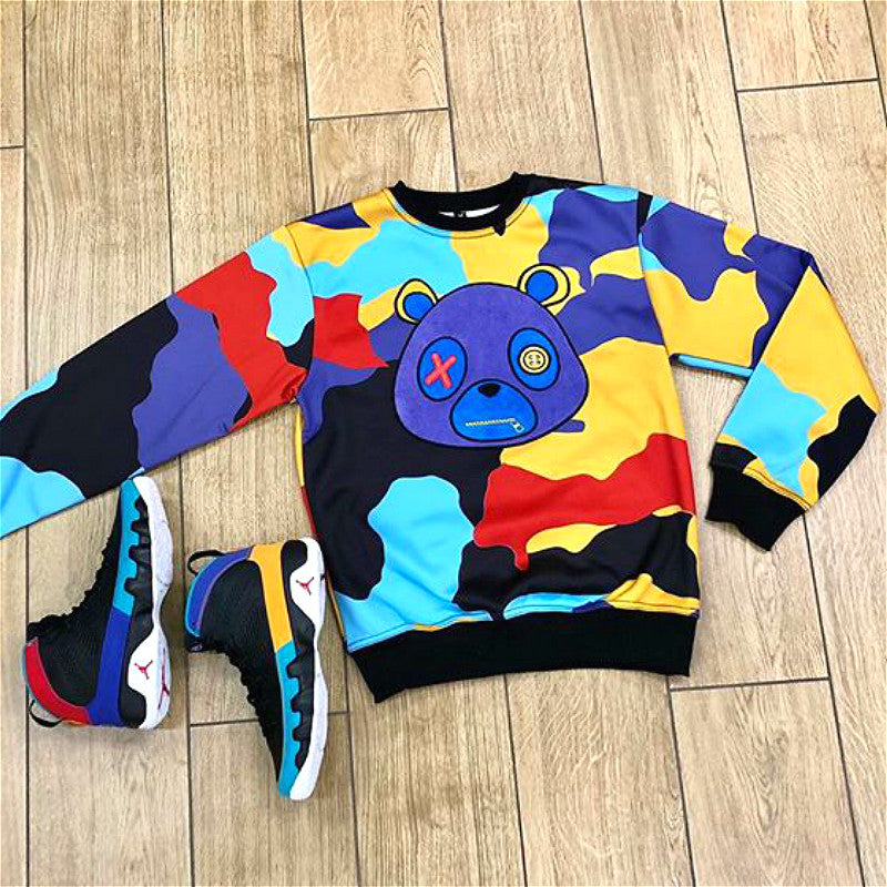 Retro Label Multi Color Sweatshirt