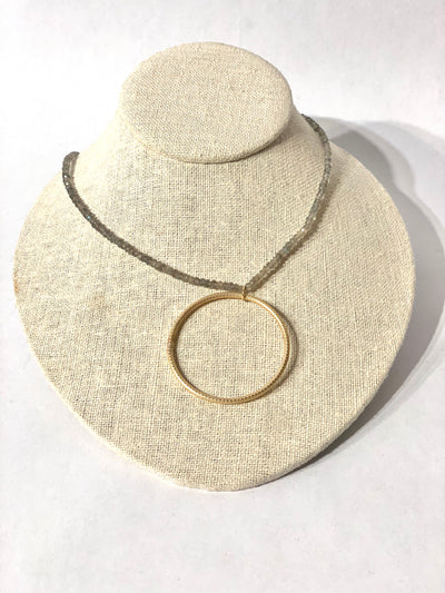 Necklace, Circle of Love, Gem - Danshire Market and Design