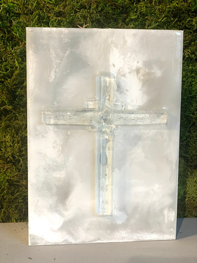Art, Glass Cross, 5x7 - Danshire Market and Design