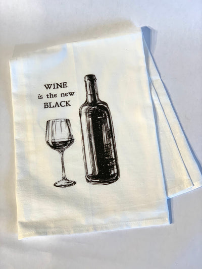 Hand Towel, Wine Is The New Black - Danshire Market and Design