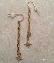Earrings, Starry - Danshire Market and Design