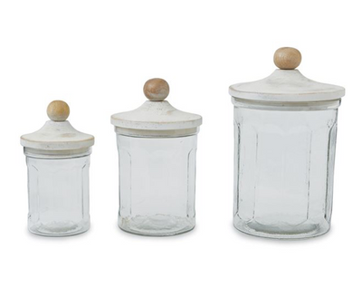 Glass Canister Set of Three - Danshire Market and Design