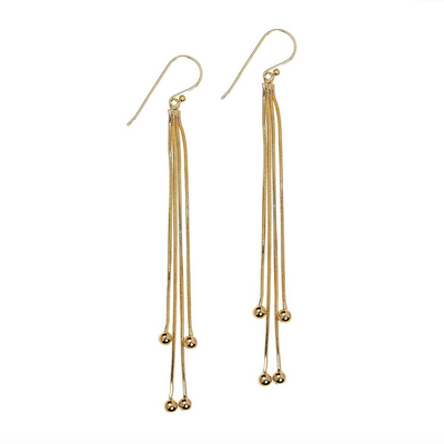 Earrings, Gold Tassel - Danshire Market and Design