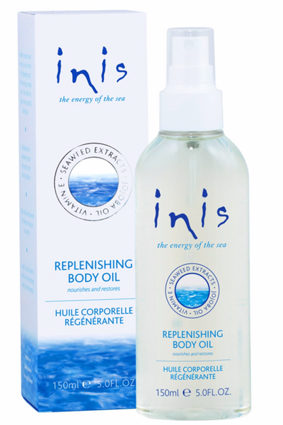A lightweight, fast absorbing spray-on blend, our fabulous new Body Oil nourishes and restores the skin.  Hydrating seaweed extracts, jojoba, and sweet almond oils smooth and deeply moisturise, while anti-oxidant borage oil and vitamin E revitalise and condition.  Use often for supple, more youthful looking skin.