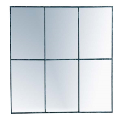 Mirror, Six Metal Pane - Danshire Market and Design