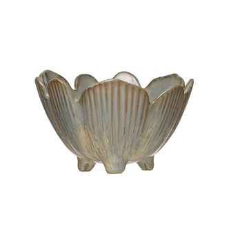 Stoneware Bowl, Flower - Danshire Market and Design