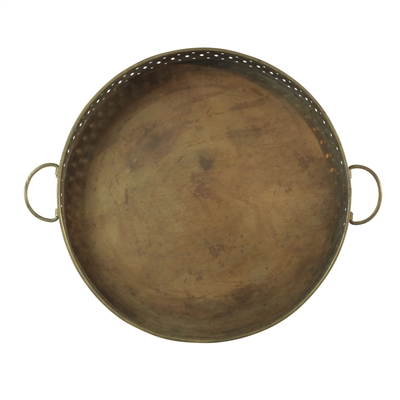 Tray, Drake, Gold, Round - Danshire Market and Design