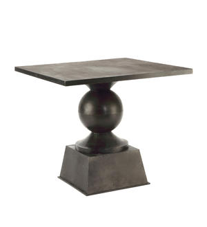 "Table, Metal, Square, Black, 33.5"" - Danshire Market and Design"
