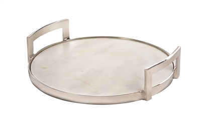 Tray, Sm Marble w/ Alum Handle - Danshire Market and Design