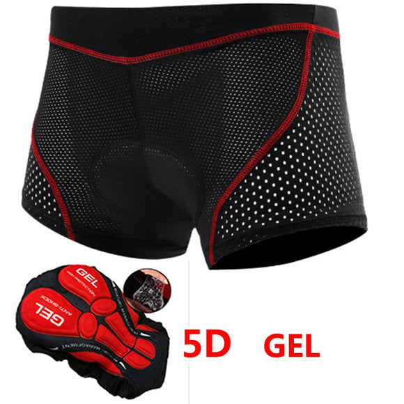 Mens 2020 Upgrade Cycling Shorts Cycling Underwear Pro 5D Gel Pad Shockproof Cycling Underpant MTB Bicycle Shorts Bike Underwear