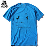 COOLMIND 100% cotton men dino tshirt male summer loose funny t-shirt tee shirt men you print dinosaur t shirt