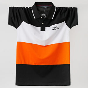 2020 Men Polo Shirt Summer Men Casual Breathable Plus Size 5xl Striped Short Sleeve Polo Shirt Cotton 6XL 5XL XXXXL Plus Size