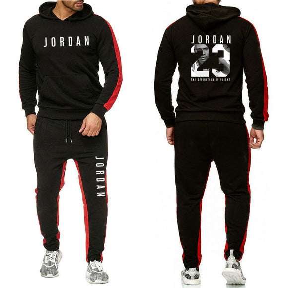 Brand Clothing Men's Fashion Tracksuit Casual Sportsuit Men Hoodies Sweatshirts Sportswear JORDAN 23 Coat+Pant Men Set