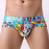 Summer Men Underwear Briefs Shorts Mesh Printed Male Nylon Soft Sexy Breathable Calzoncillos Underpants