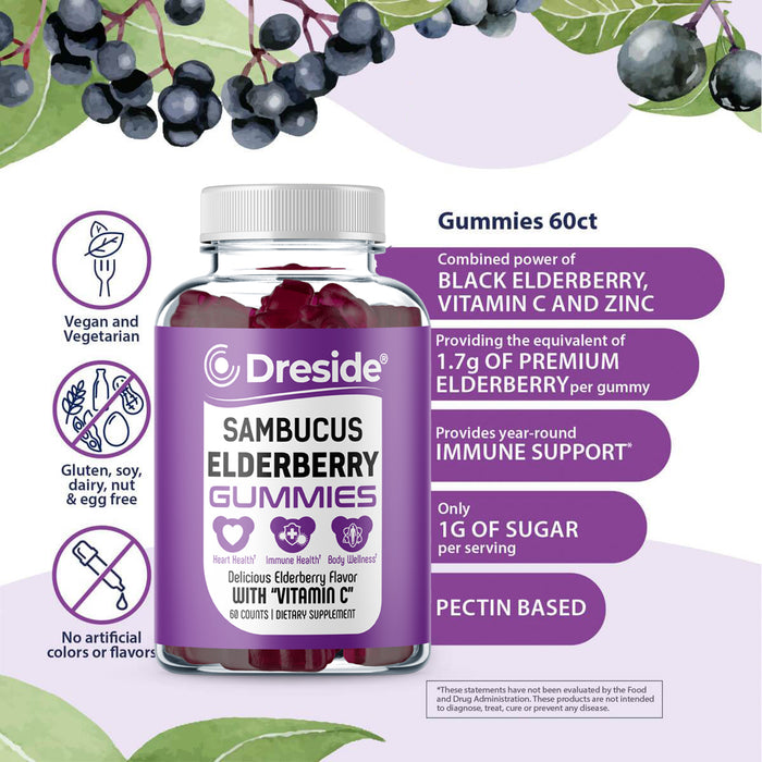 Immune Support - Sambucus Elderberry Gummies