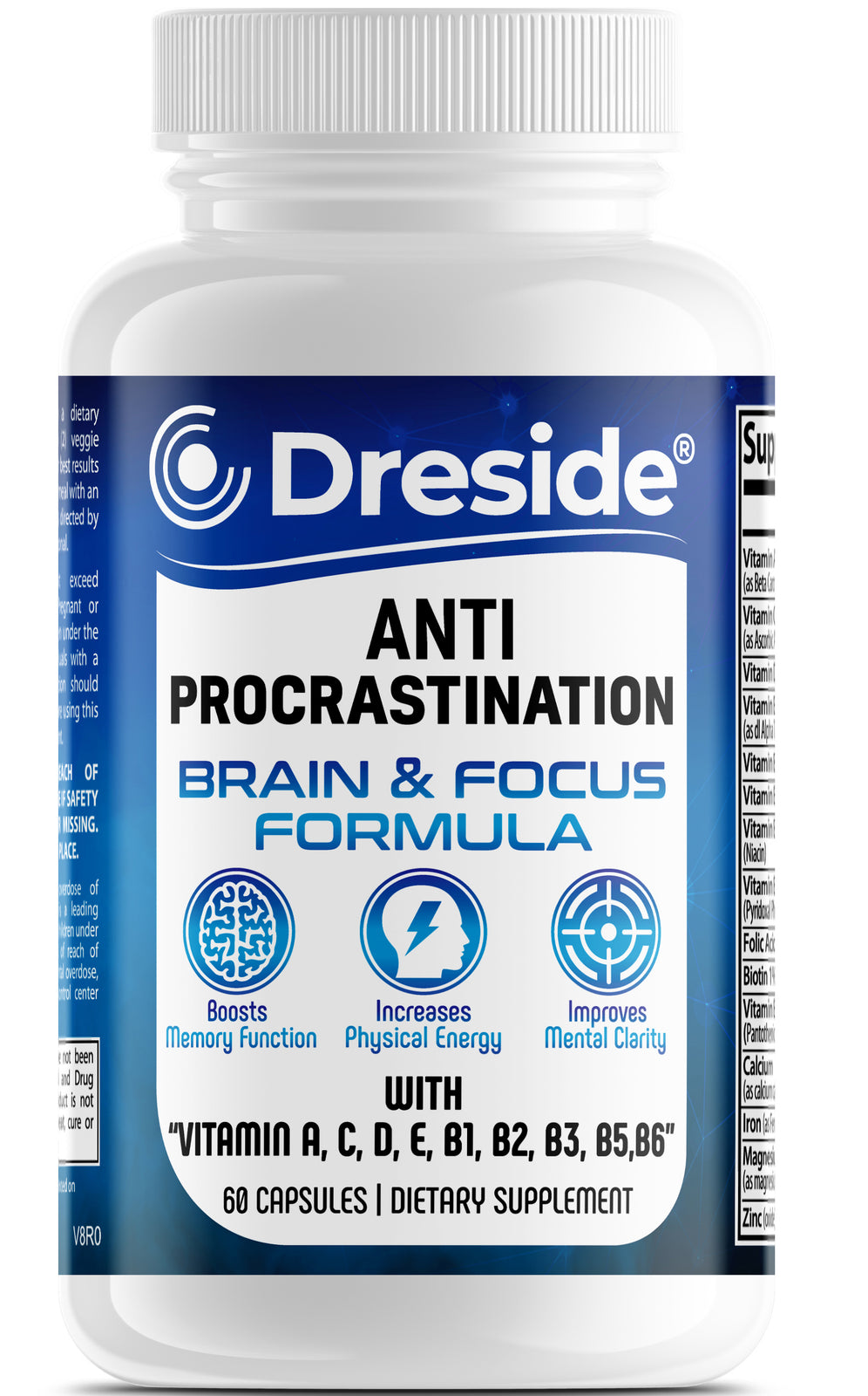 Anti Procrastination -Bran & Focus Formula