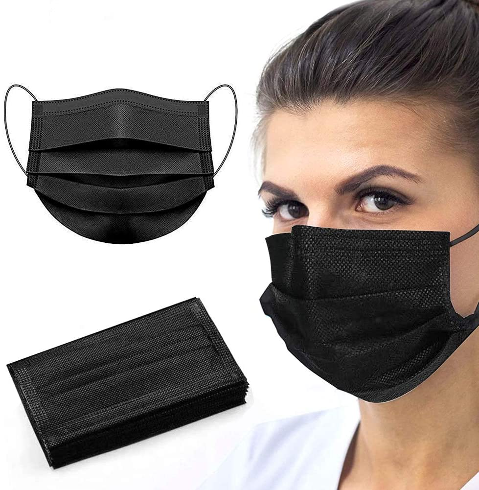 3-Ply Mask Black High Quality Edition (FDA) (50pcs/box)