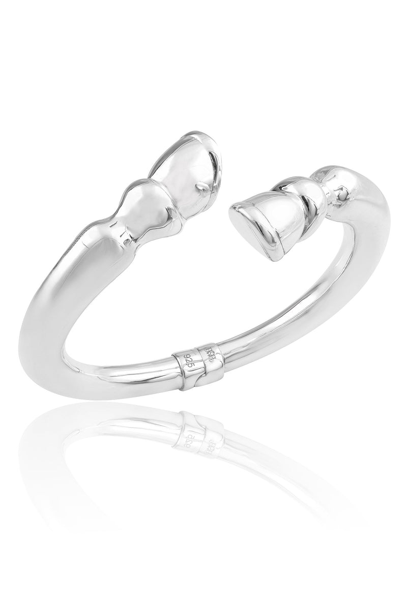 SS01 Silver Hooves Bangle