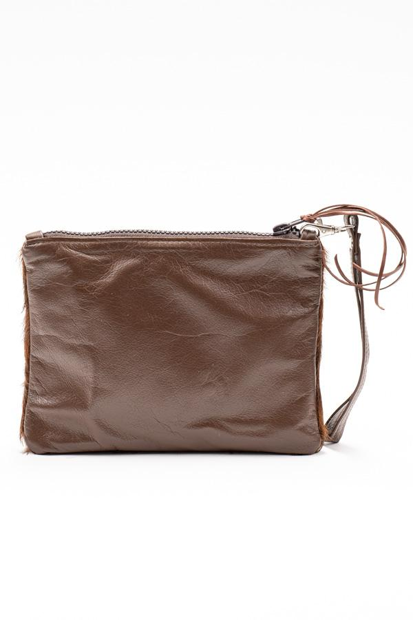Hide & Leather Clutch #565