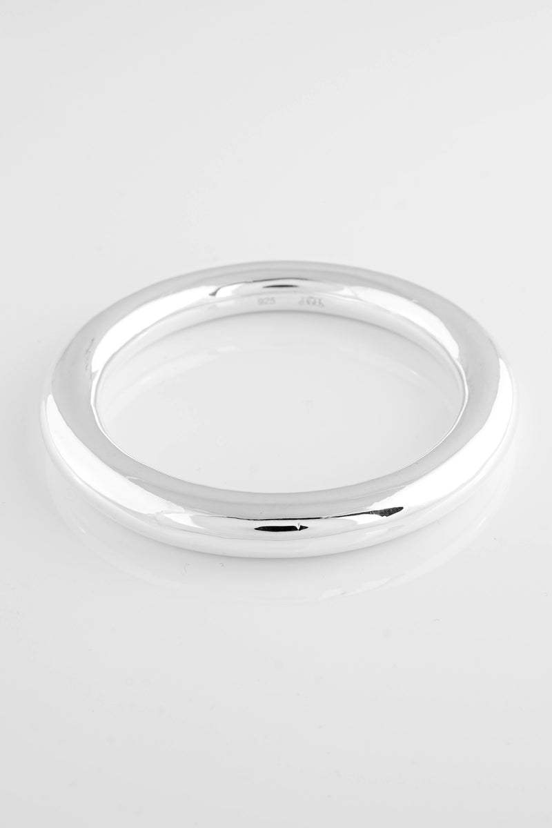 SS02 Silver Plain Bangle