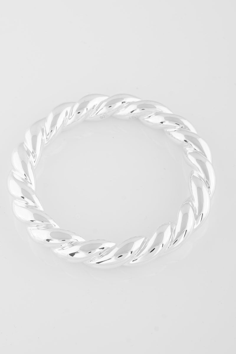 SS04 Silver Twisted Bangle