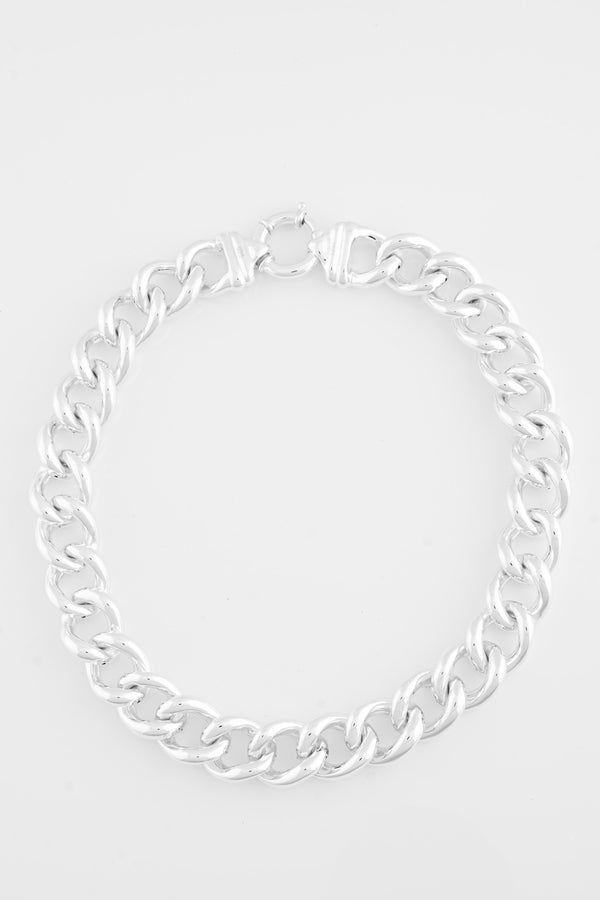 SS07 Silver Curb Link Necklace