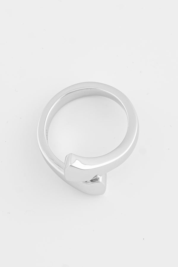 SS18 Silver Horse Shoe Nail Ring