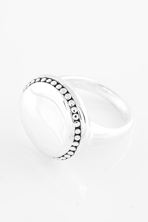 SS12 Silver Ring (Round w/ Decorative Edging)