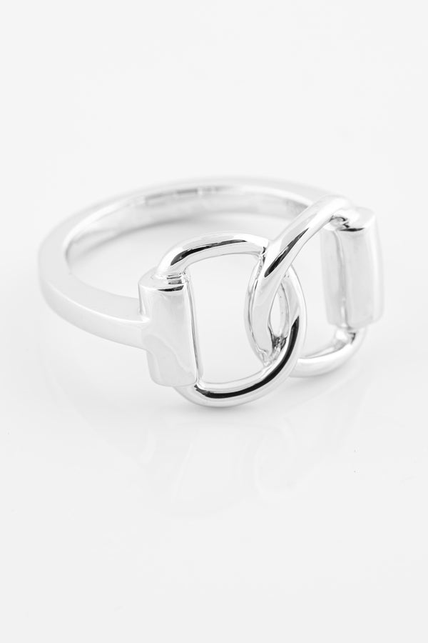 SS19 Silver Snaffle Bit Ring