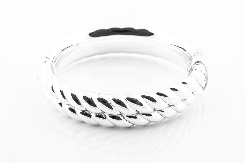 SS24 Twist Hinged Bangle
