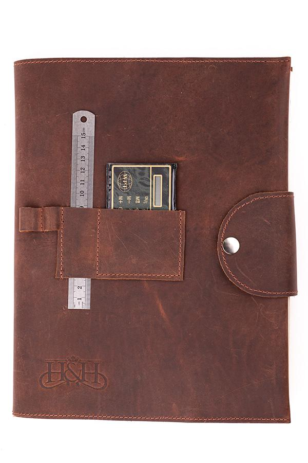 Log Book Cover - Cognac