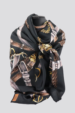 VIP S30 Black Print Scarf (Reward)